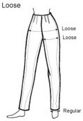 Loose trouser guide Hazel Walker